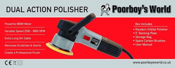 Poorboy's World 900W Dual Action Polisher