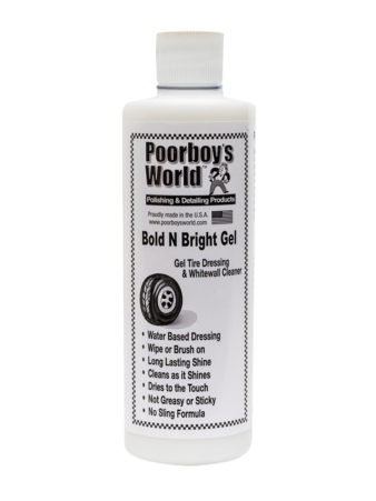 Poorboy's World Bold N Bright Tyre Gel 16oz