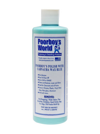 Poorboy's World Polish With Carnauba Blue 16oz