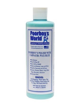 Poorboy's World Polish With Carnauba Blue 16oz