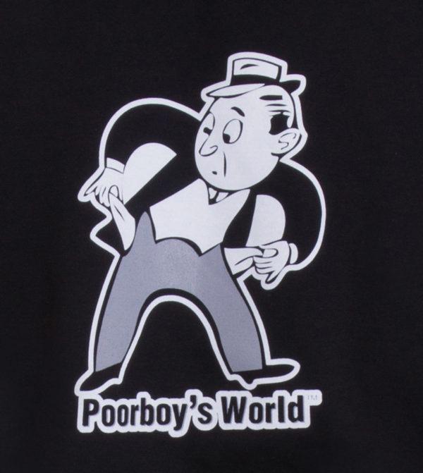 Poorboys World Black Hoodie Close Up
